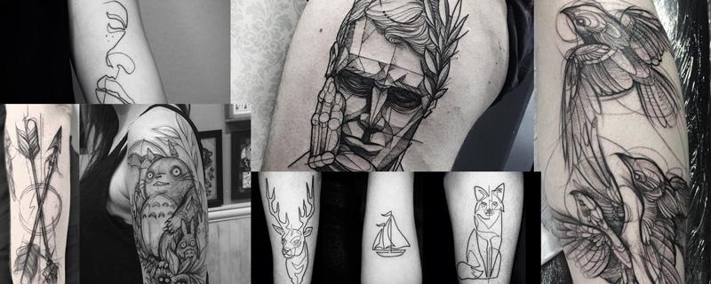 Estilo tatuaje Bosquejo