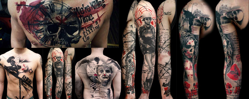 Estilo tatuaje Trash Polka