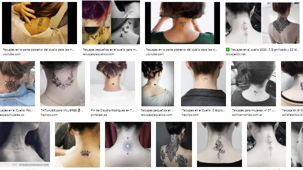 Tatuaje delicado en la nuca